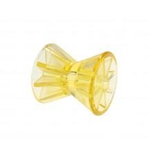 Ролик носовой  L=70 мм, диаметр втулки 14 мм PVC желтый C11310S