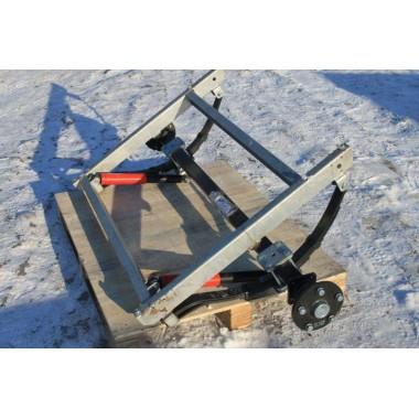 Ось для рессорной подвески для легкового прицепа МЗСА 817701.016-05