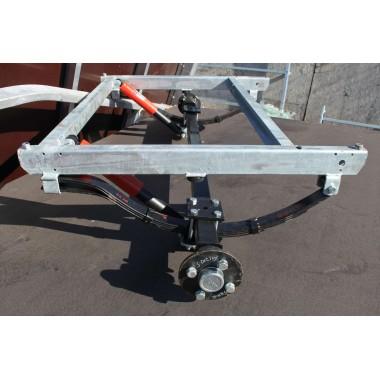 Ось для рессорной подвески для легкового прицепа МЗСА 817701