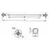 Ось для рессорной подвески для легкового прицепа МЗСА 817731